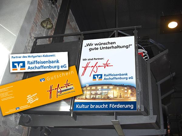 Partnerschaft Hofgarten Aschaffenburg und Raiffeisenbank Aschaffenburg